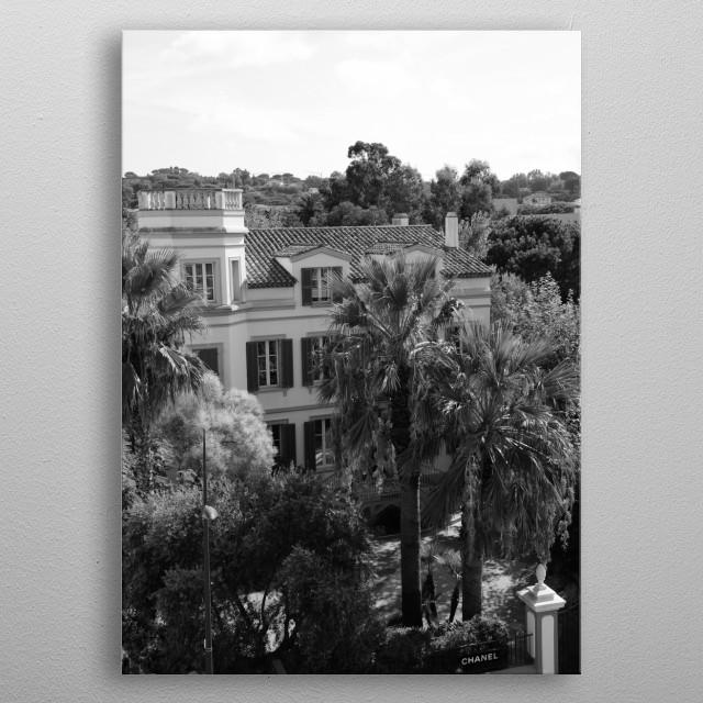 Chanel Saint-Tropez by luxury street photographer Tom V. metal poster