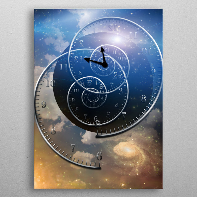 Spirals of time. Eternity metal poster