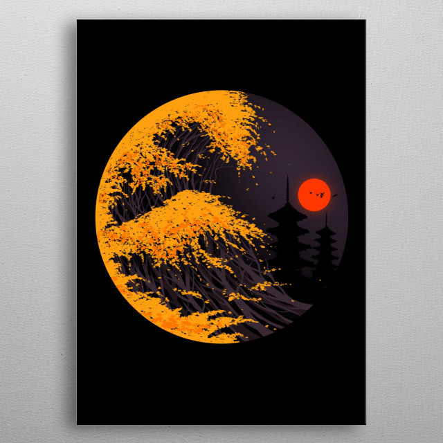 A wave of Autumn feels. metal poster