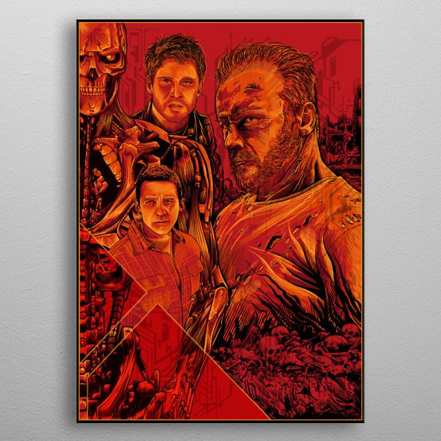 tribute to terminator dark fate metal poster