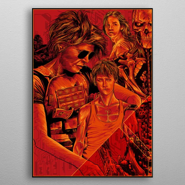 tribute to the terminator dark fate movie metal poster