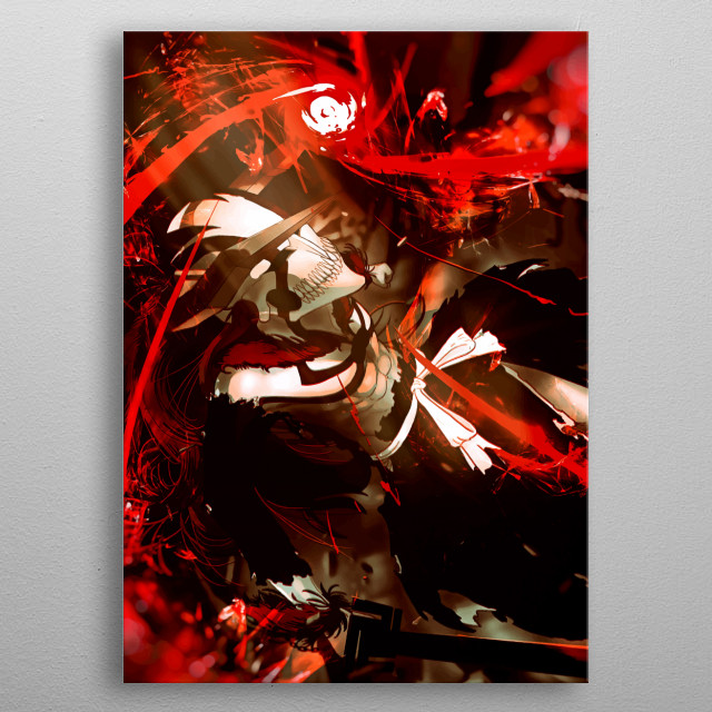 Bleach Hollow Vasto Lorde anime abstract monster ultimate zero anime manga red artwork metal poster