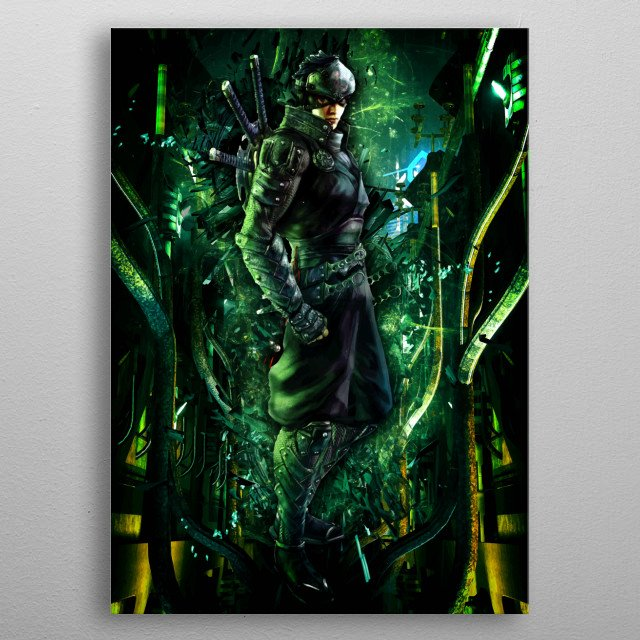 Ninja Blade modern day warrior ultimate artwork metal poster