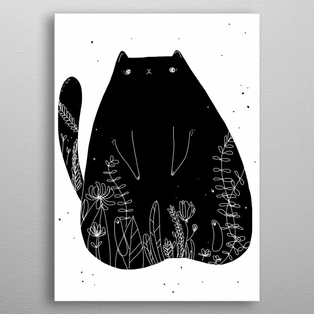 High-quality metal print from amazing Black Cat collection will bring unique style to your space and will show off your personality. metal poster