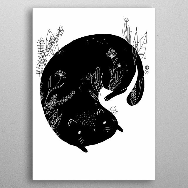 cat metal poster