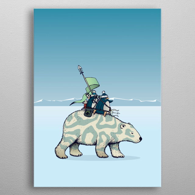 Nature warriors: Polar bunch metal poster