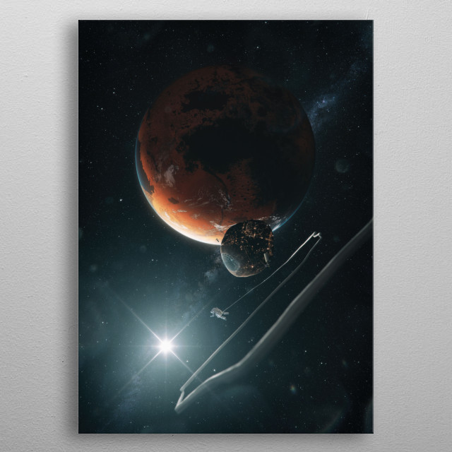 Terraforming Mars in the future.  metal poster
