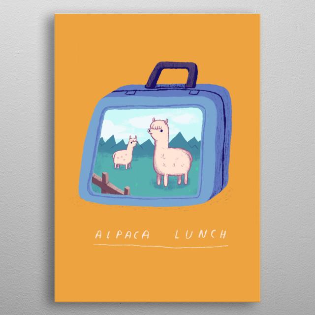 alpaca !  metal poster