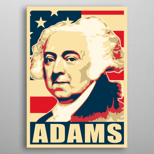 This cool design print is inspired by American history president election campaign propaganda posters with messages like change and hope.  metal poster