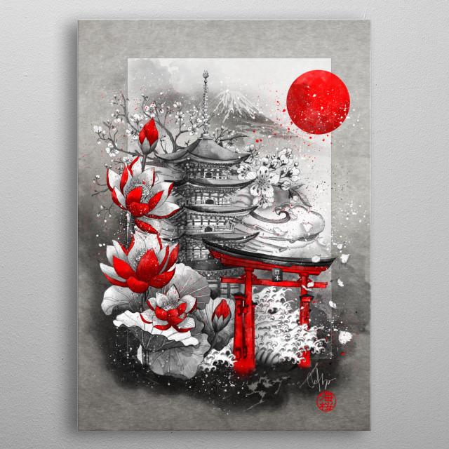 Memories of Japan. Land of the rising sun metal poster