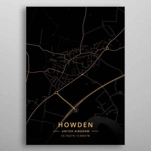 Howden, United Kingdom metal poster