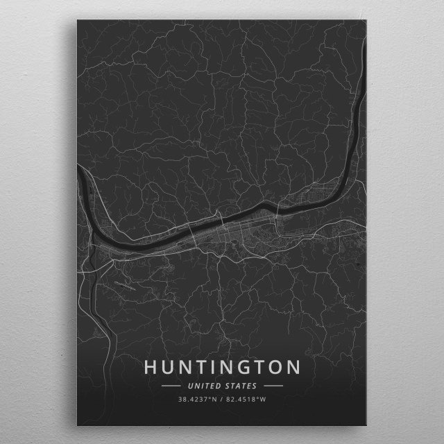 Huntington, United States metal poster