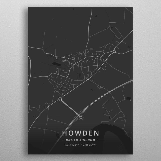 Howden, United Kingdom metal poster