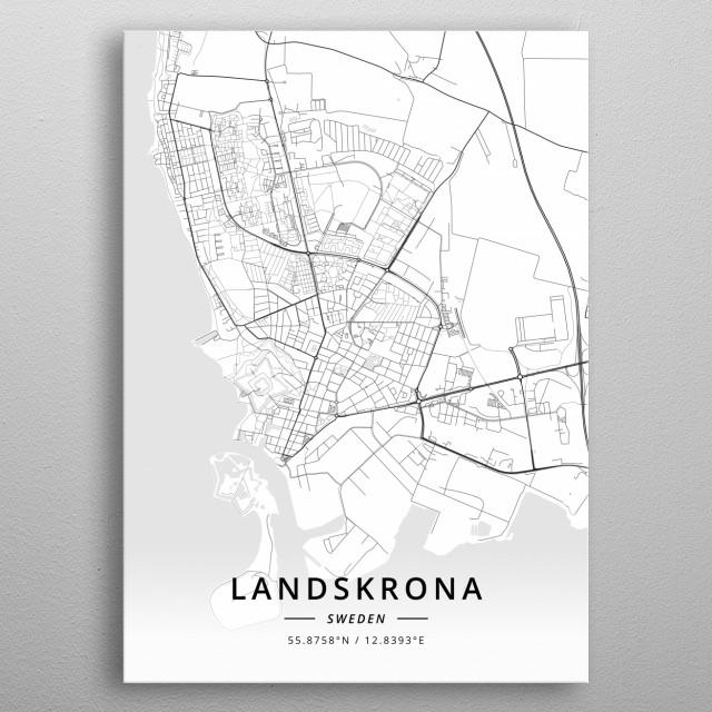 Landskrona, Sweden metal poster