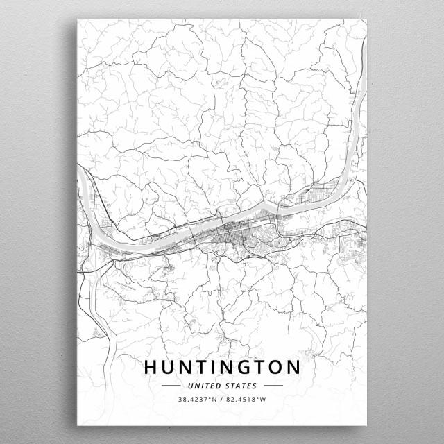 Huntington, United States metal poster