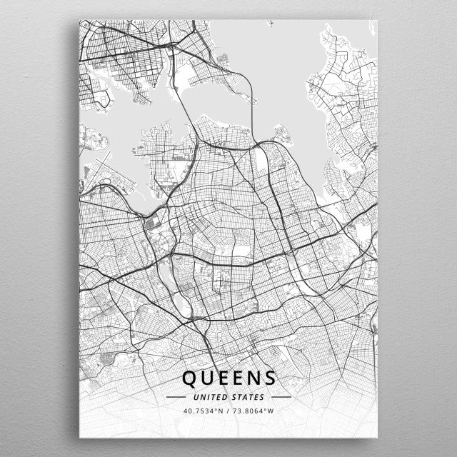 Queens, United States metal poster