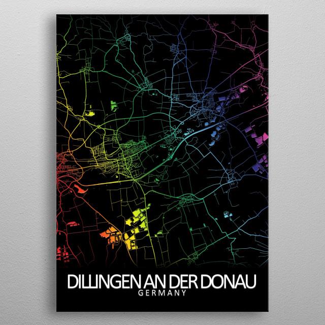Dillingen an der Donau, Germany metal poster