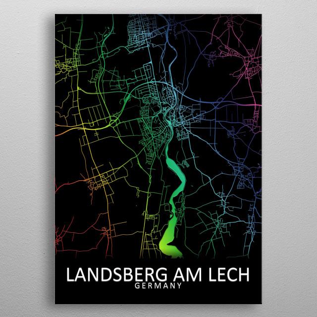 Landsberg am Lech, Germany metal poster