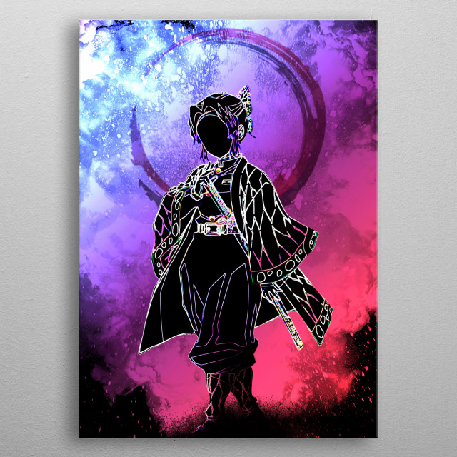 Black silhouette of the Insect Pillar metal poster