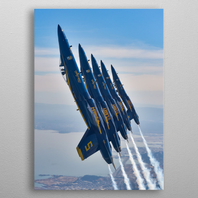 The Blue Angels is the United States Navy's flight demonstration squadron which was initially formed in 1946 metal poster