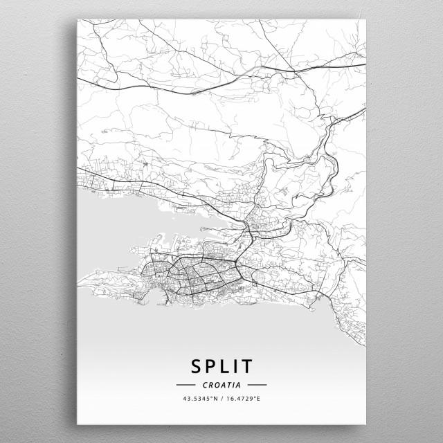 Split, Croatia metal poster