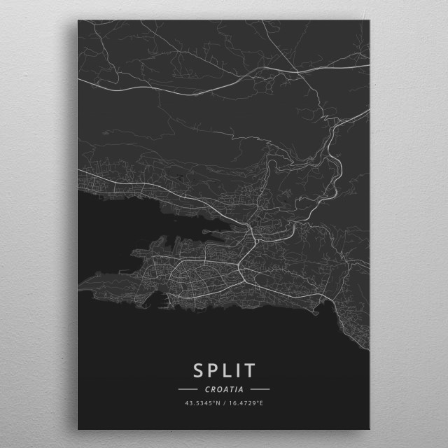 Split, Croatia metal poster