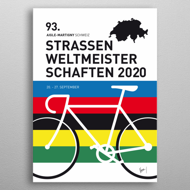 """""""It never gets easier, you just go faster"""" - Greg LeMond Chungkong's tribute too those extraordinary riders of cycling races in Europe. metal poster"""