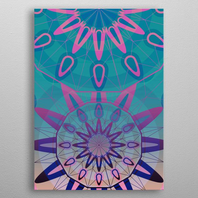 Beautiful bohemian mandala to decor your lovely home metal poster