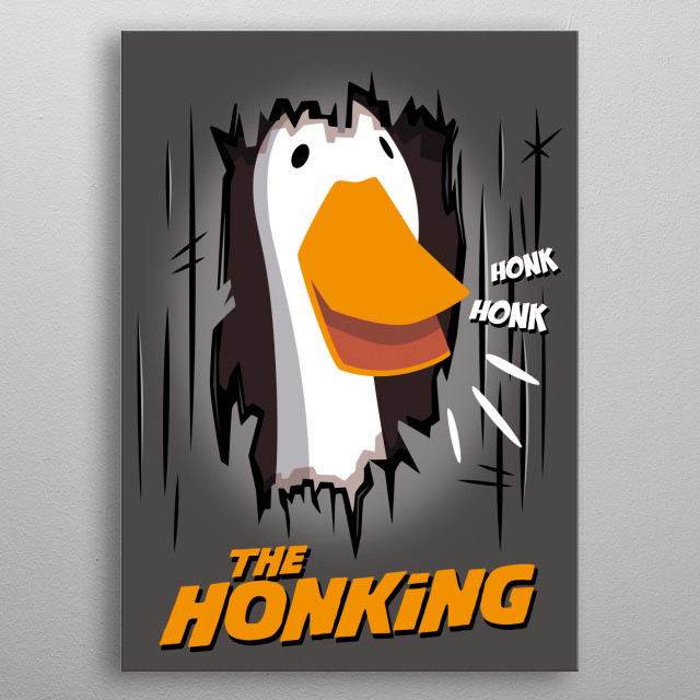 Goose Torrance got crazy at Overlook hotel and then couldn't stop honking! metal poster