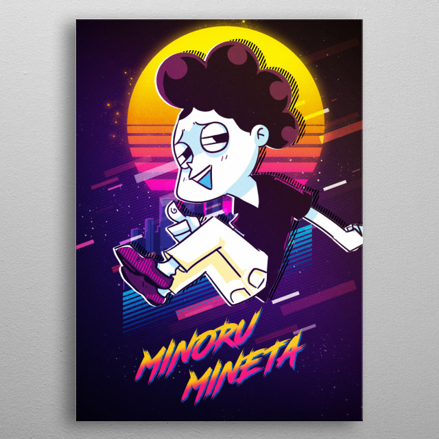 Minoru Mineta Anime Manga Poster Print Metal Posters