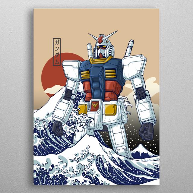 Borderless version of Gundam X kanagawa, tplease buy it...  metal poster