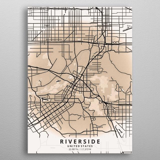 Riverside California Vintage Posters Poster Print | metal ...