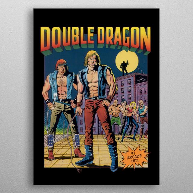 Double Dragon Retro Poster Print Metal Posters Displate