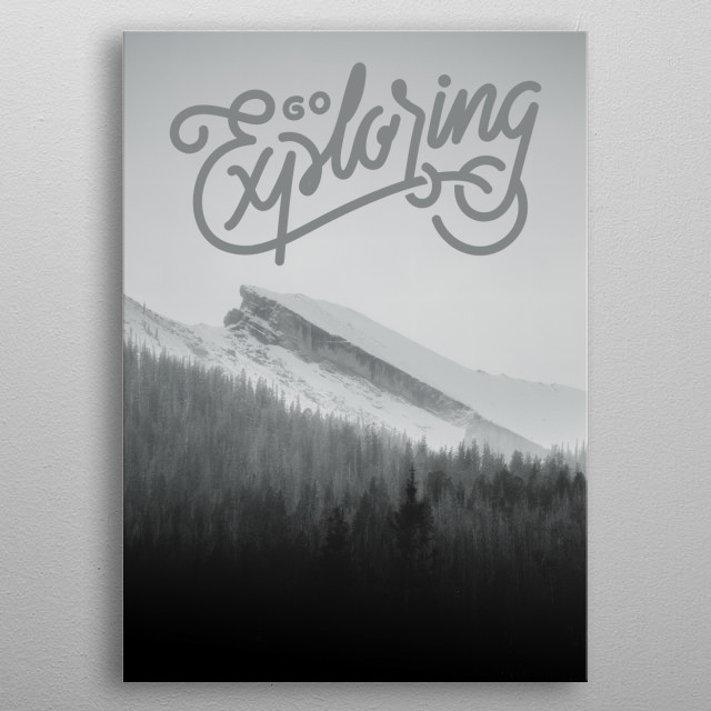 Go exploring typography text art by wordfandom metal poster