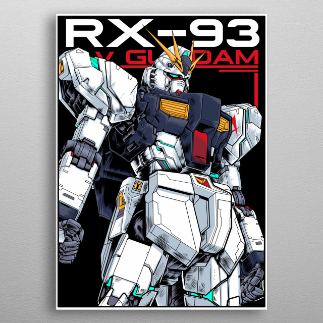 RX -93 v Gundam Metal Poster  metal poster