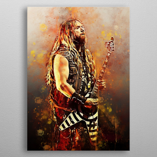 Zakk Wylde is an American musician, singer, songwriter, guitarist and he is known as the founder of the heavy metal band Black Label Society metal poster