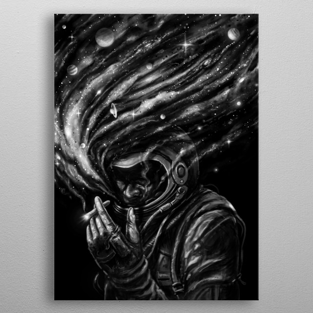 Inhale and exhale your imagination. metal poster