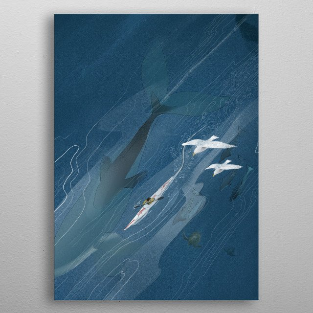 A journey across the Atlantic.  metal poster