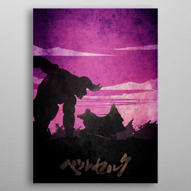 Berserk GUTS fight zodd metal poster