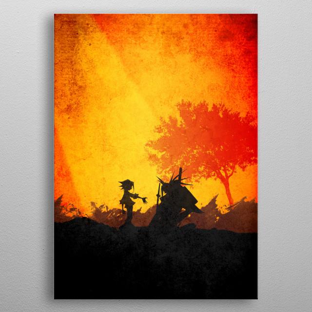 Shaman King - Yoh and Amidamaru metal poster