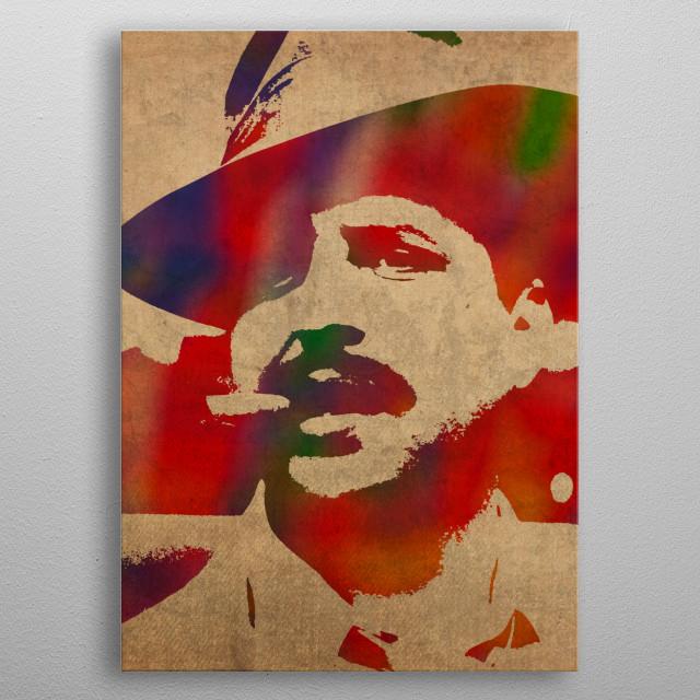 Jon Lovitz Watercolor Portrait metal poster