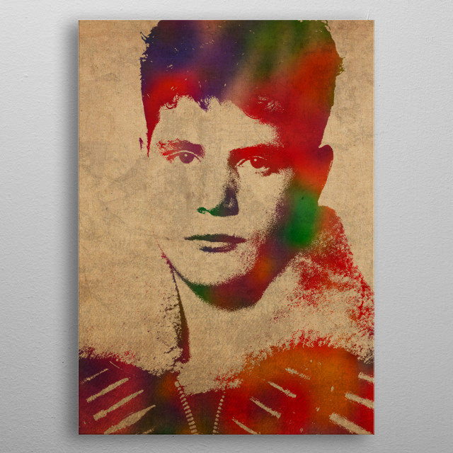 Sean Astin Watercolor Portrait metal poster
