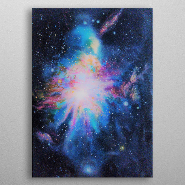 A galaxy full of colours metal poster