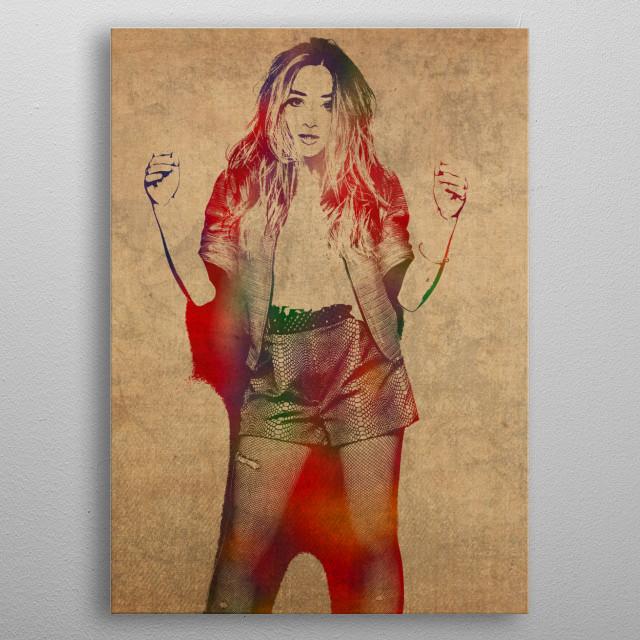 Sabrina Carpenter Watercolor Portrait metal poster