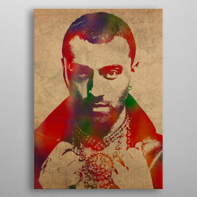 Sam Smith Watercolor Portrait metal poster