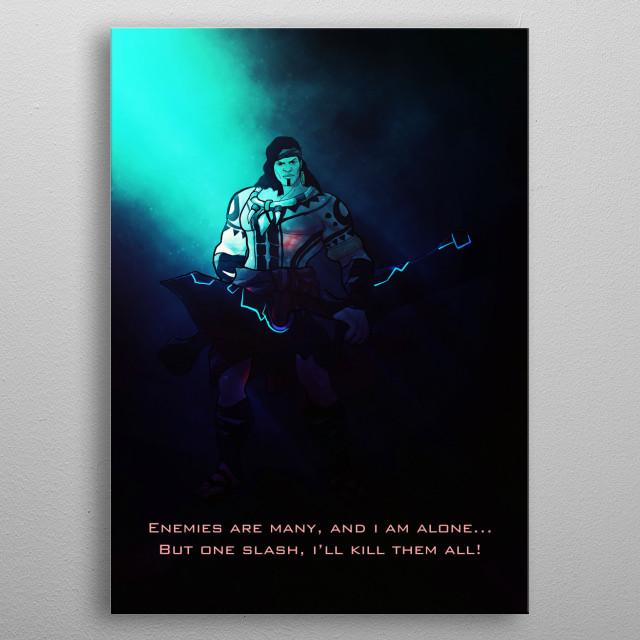 Mobile Legend character Lapu Lapu inspired Artwork by Gab Fernando. metal poster