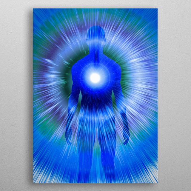 Human Power. Energy or Soul metal poster