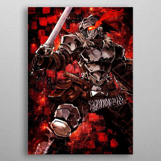 Ultimate goblin slayer anime manga soldier armour artwork red blood season 2 sword shield otaku mancave wallart poster metal poster