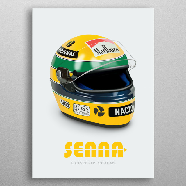 Senna - Alternative Movie Poster metal poster