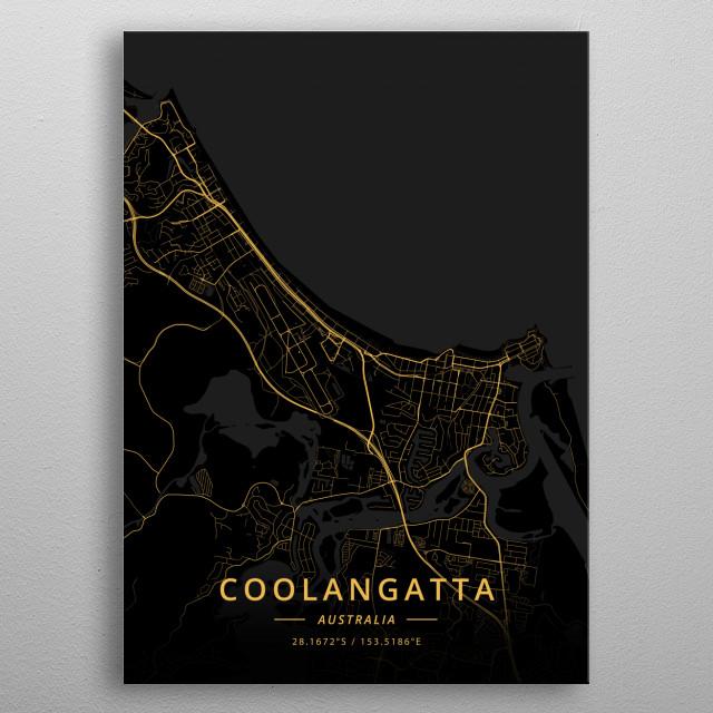 Coolangatta, Australia metal poster